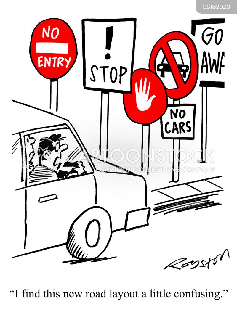 traffic signs cartoon