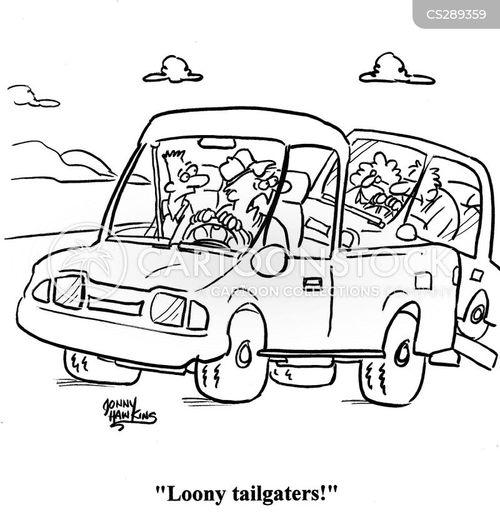 crazy drivers cartoon
