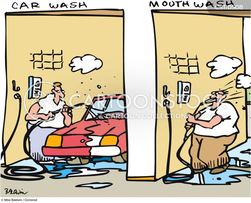 mouthwashes cartoon