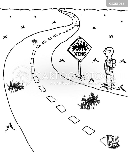 road-kills cartoon