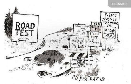 road surface cartoon