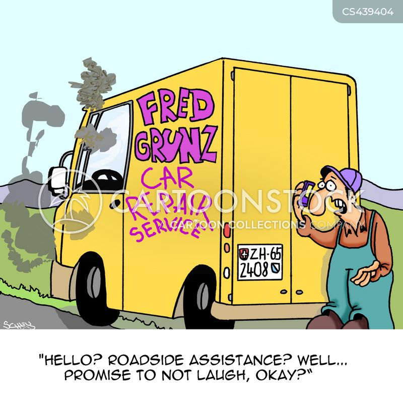 roadside breakdown cartoon