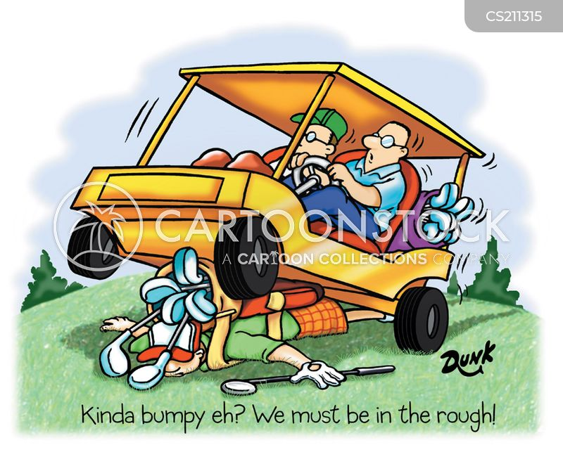 Rough Golf Cart Cartoons And Comics Funny Pictures From Cartoonstock