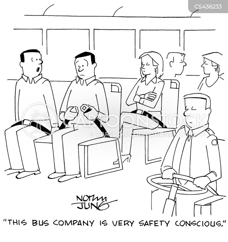 bus companies cartoon