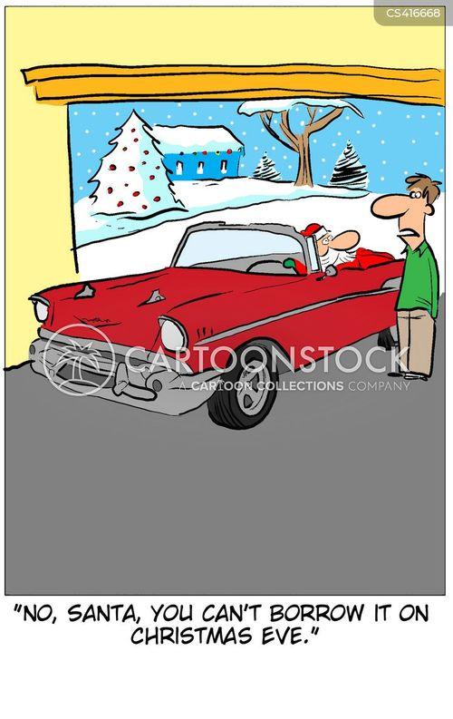 car rental cartoon