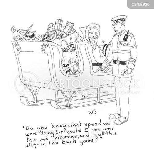 speeding cartoon