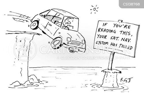 drive off a cliff cartoon