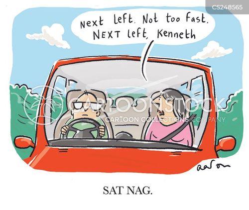 back seat driver cartoon
