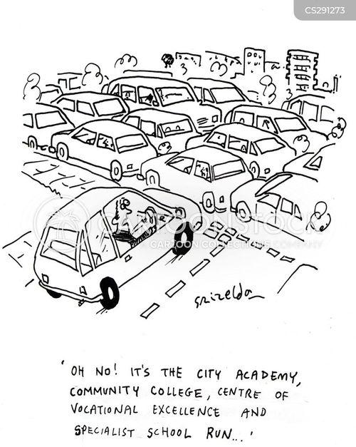school runs cartoon
