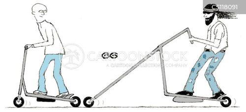 push bike cartoon
