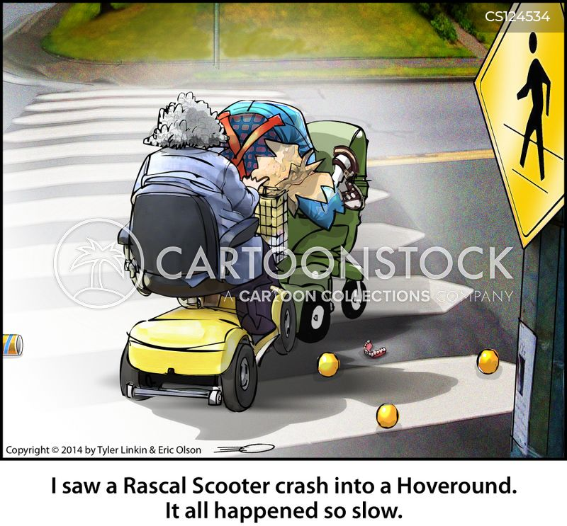motor scooter cartoon