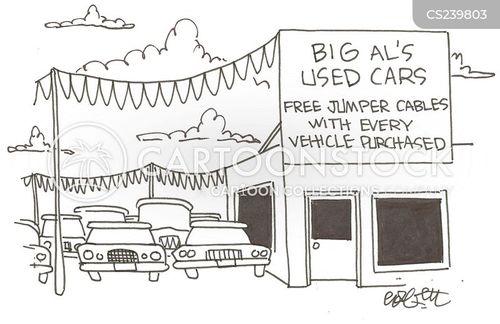 jumper cables cartoon