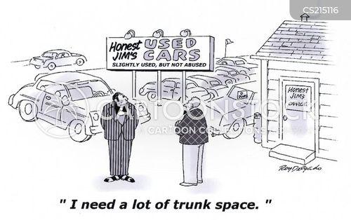 second hand cars cartoon