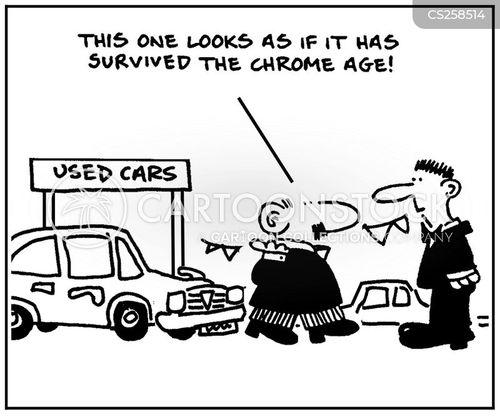 car sale cartoon