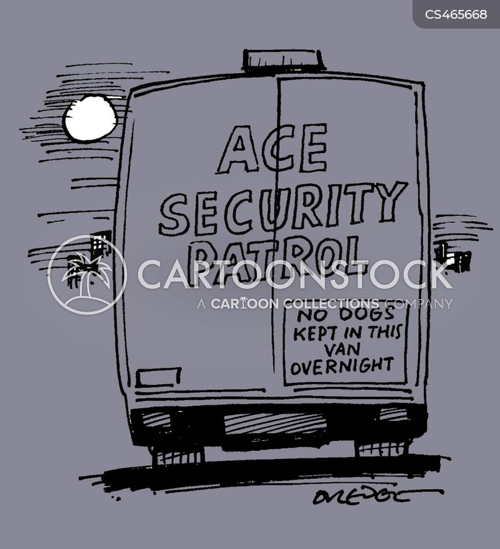 security van cartoon