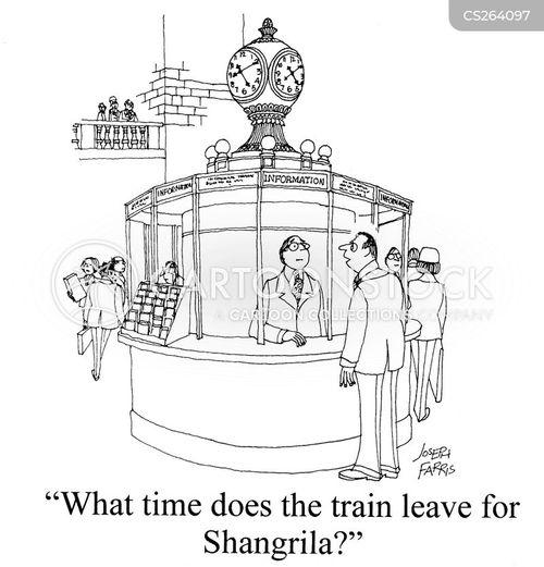 railway stations cartoon