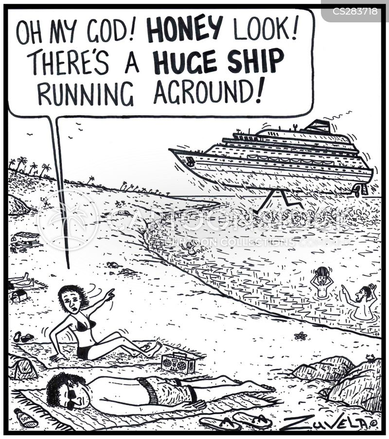 aground cartoon