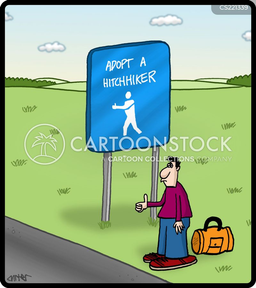 hitcher cartoon