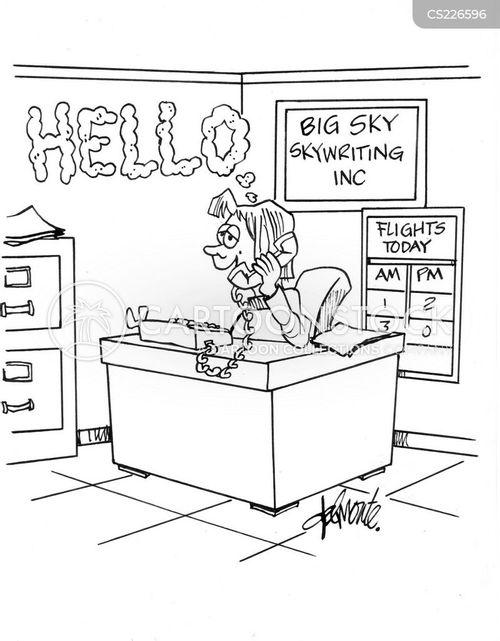 skywriting cartoon