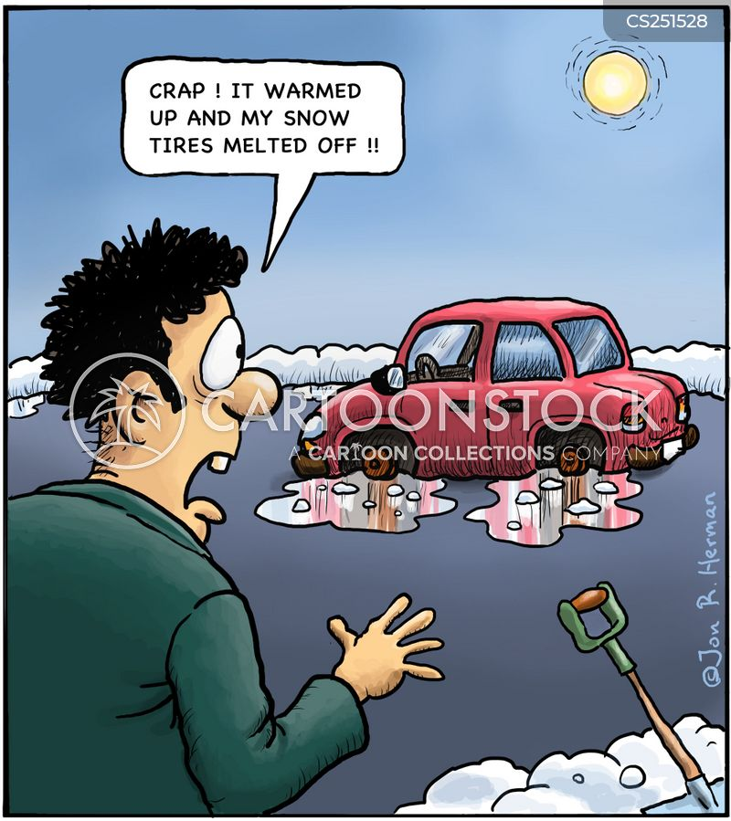 driving conditions cartoon