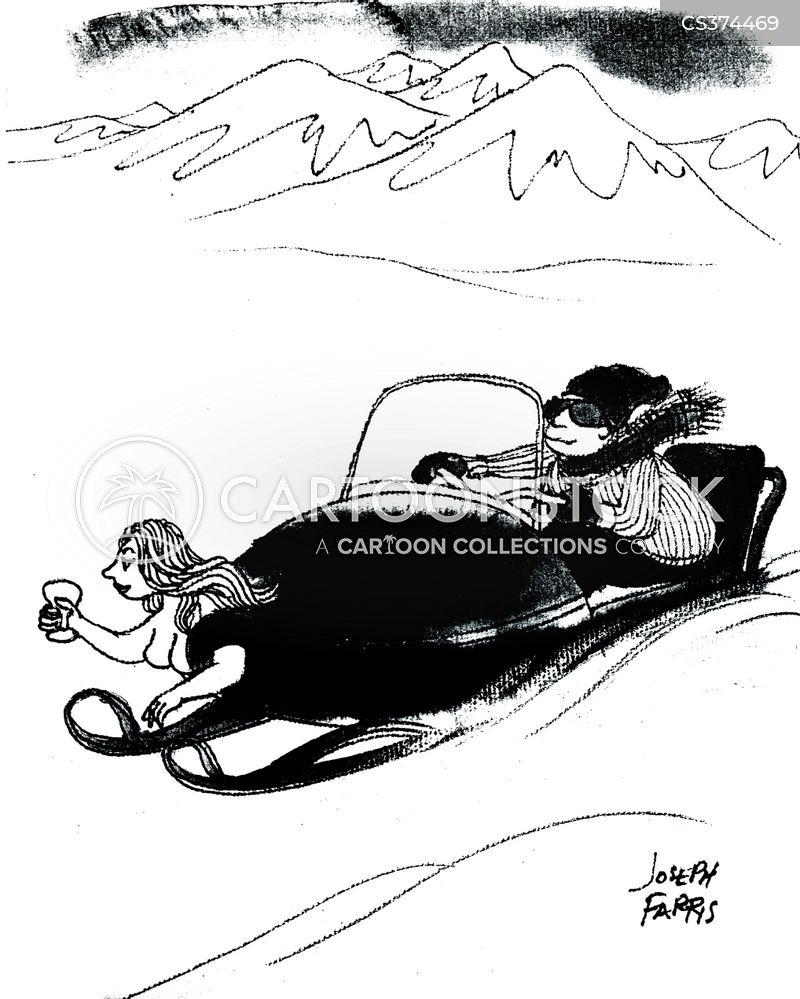 snowmobiles cartoon