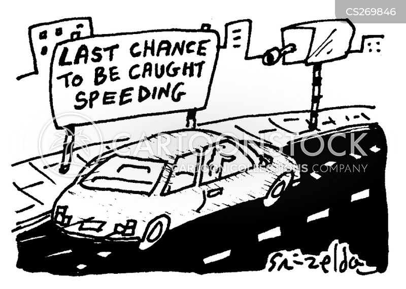 speed cameras cartoon