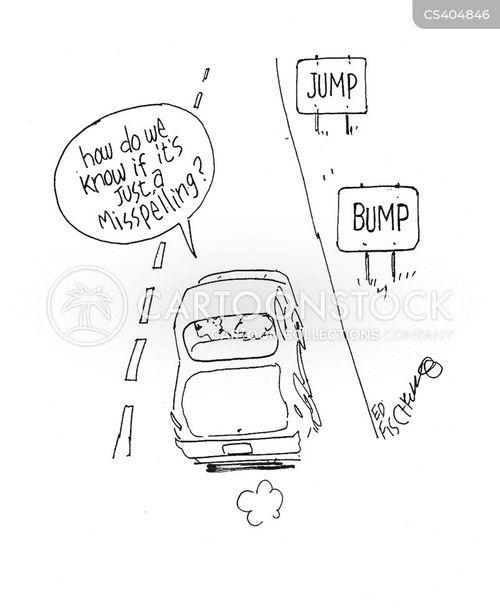 speed bumps cartoon