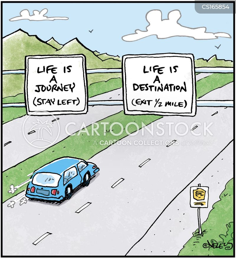 navigating cartoon