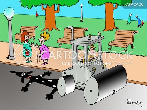 road-roller cartoon