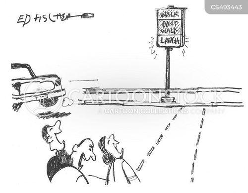 street safety cartoon