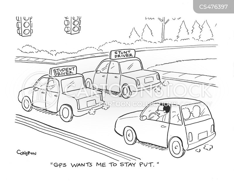 stunt driver cartoon