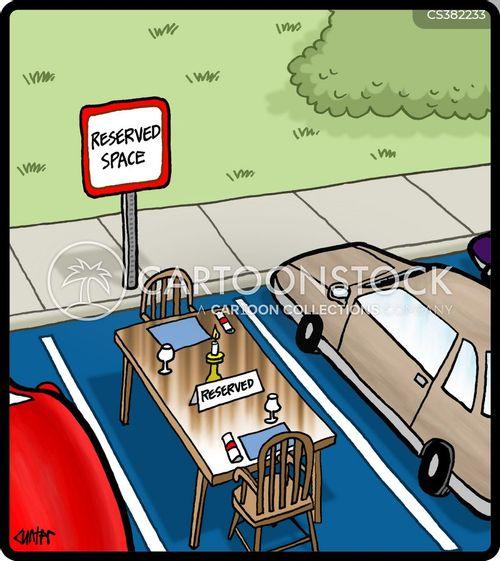 parking spot cartoon