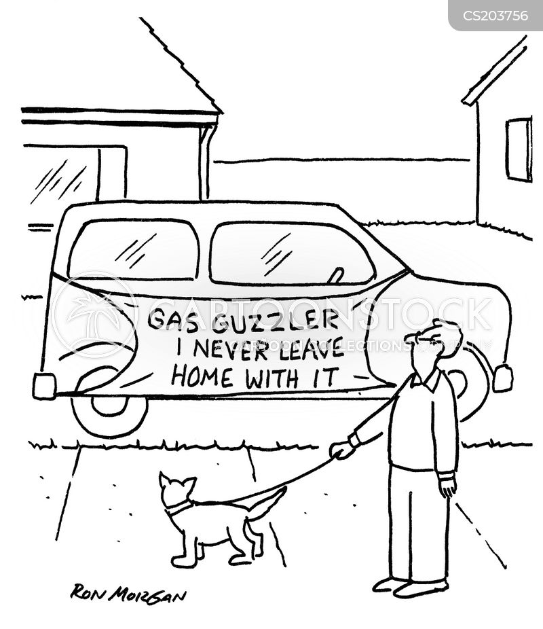 gas guzzler cartoon