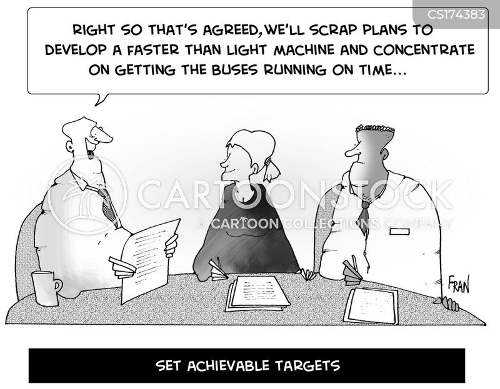 setting targets cartoon