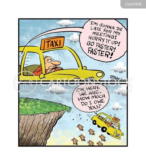cab fare cartoon