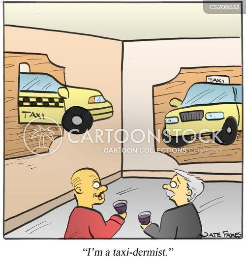 taxi cab cartoon