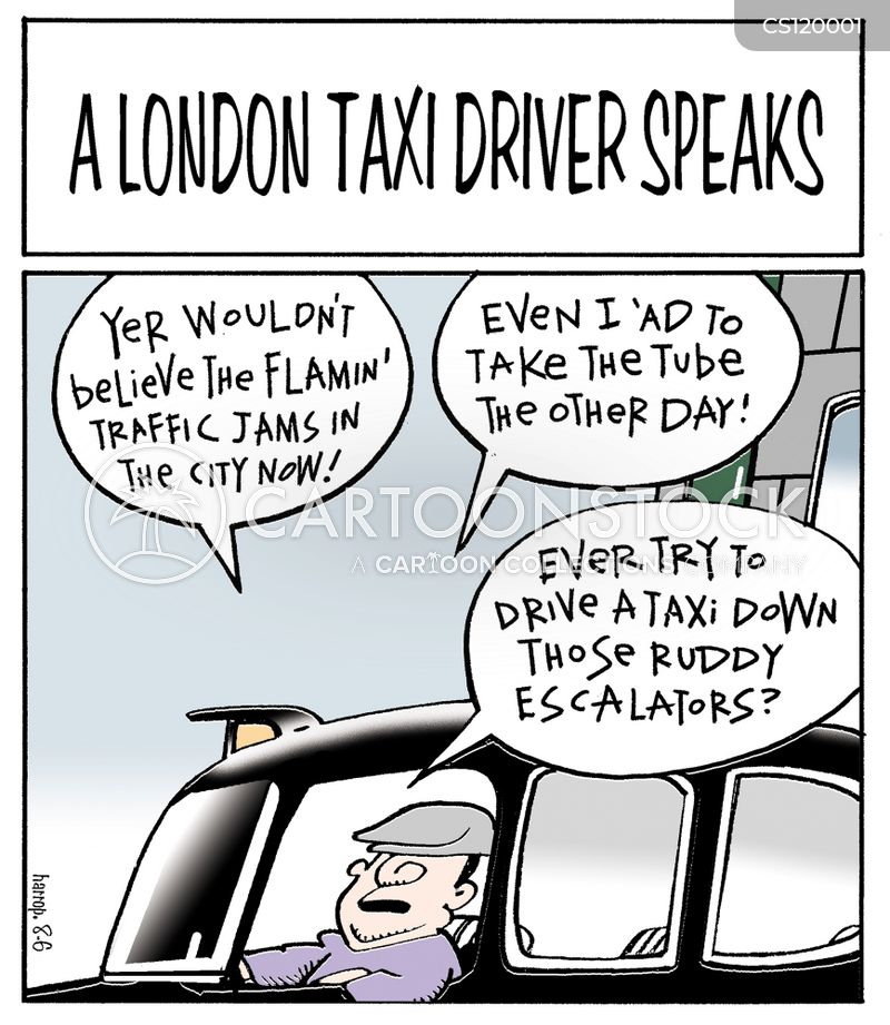 london taxis cartoon