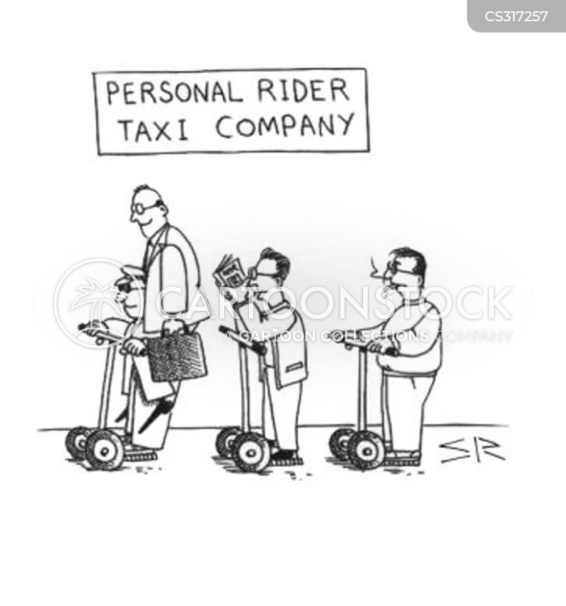 segway cartoon