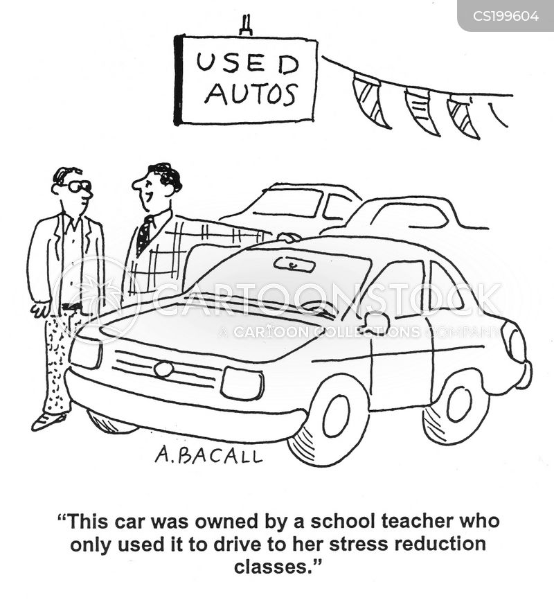 second hand car cartoon