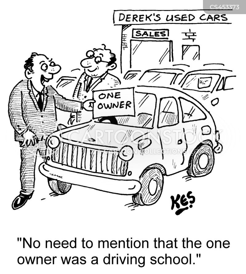 driver training cartoon