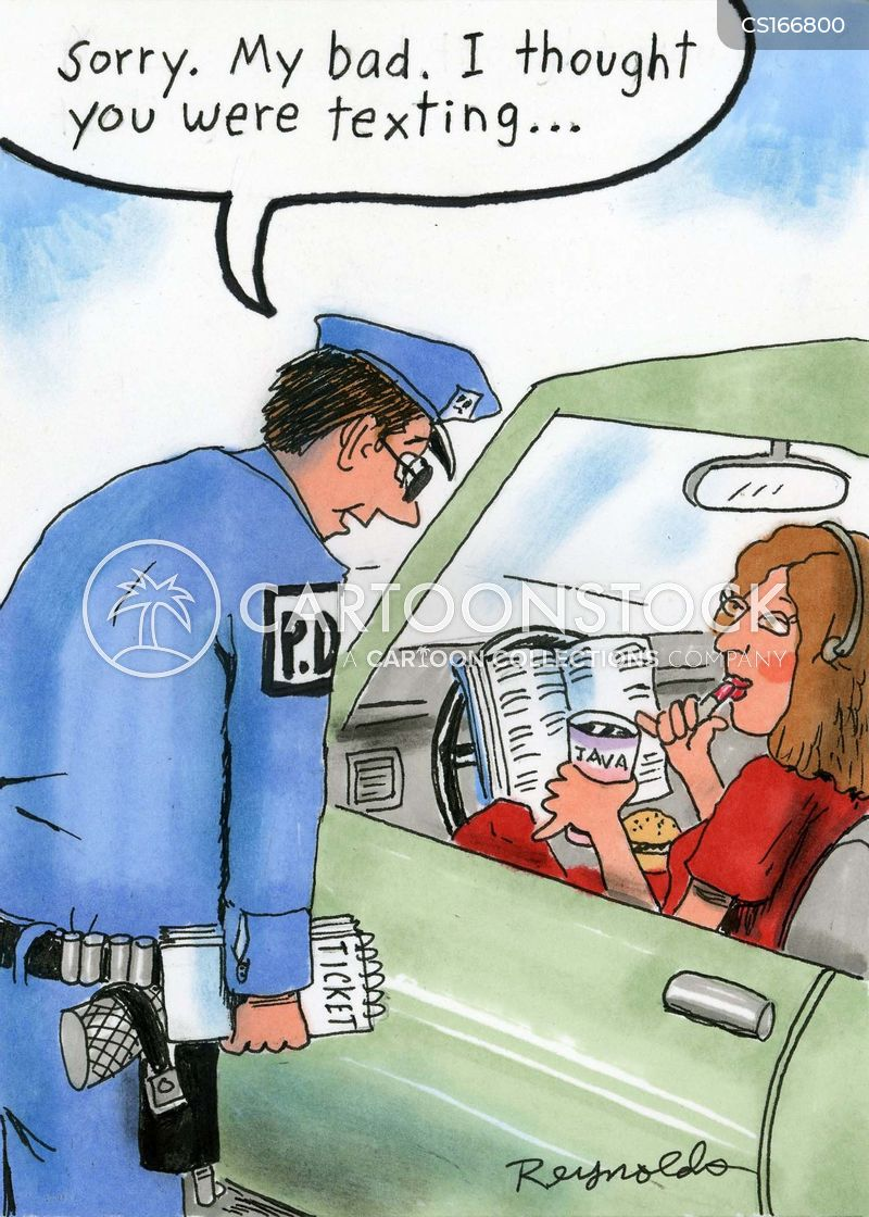 transport cop cartoon