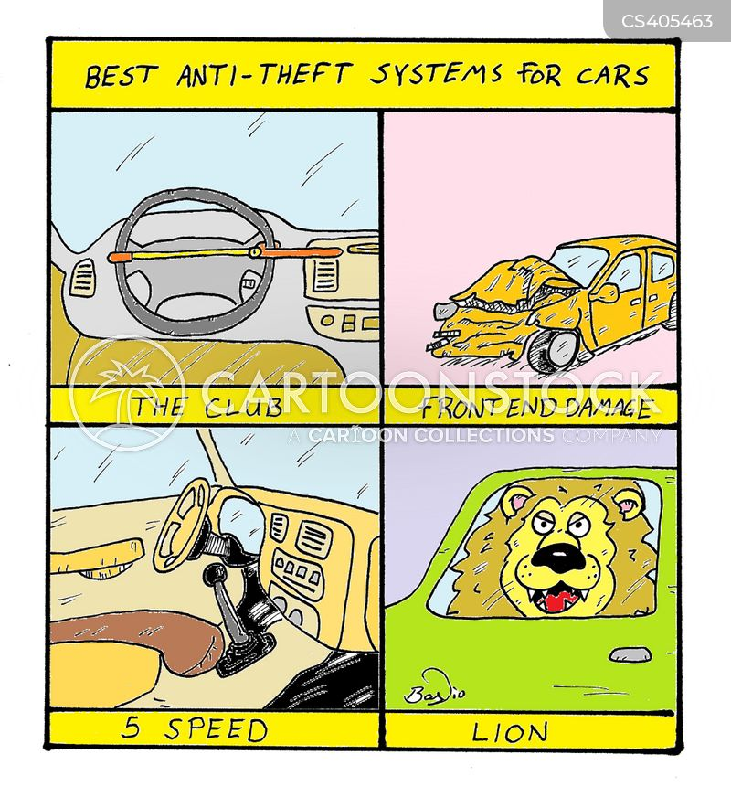 car theft cartoon