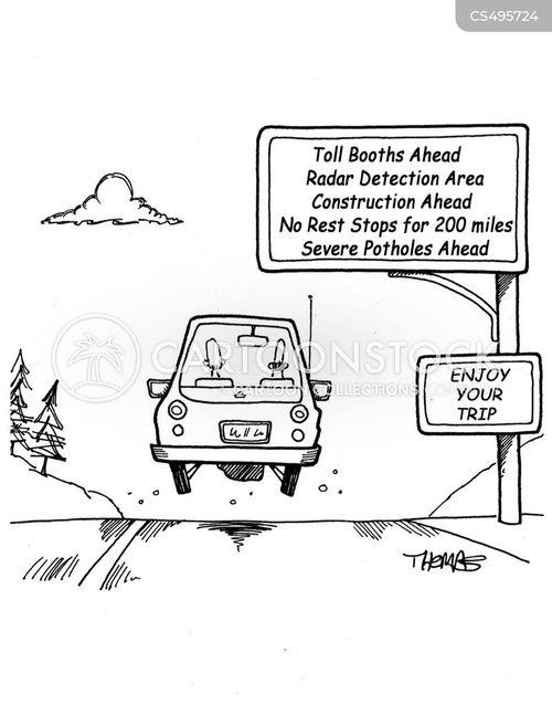 toll booth cartoon