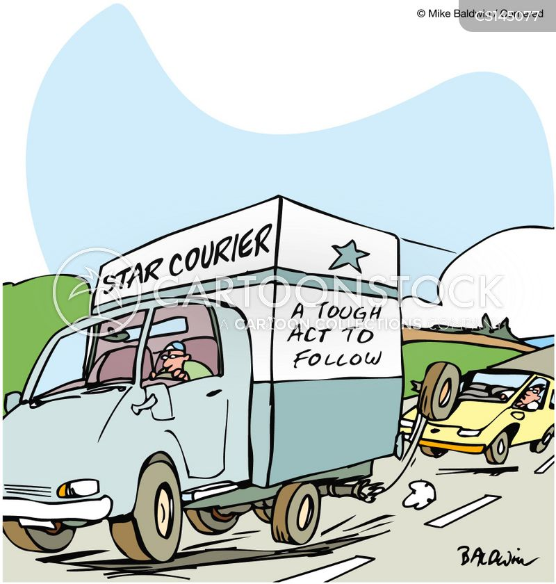courier cartoon