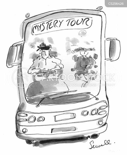 coach tour cartoon