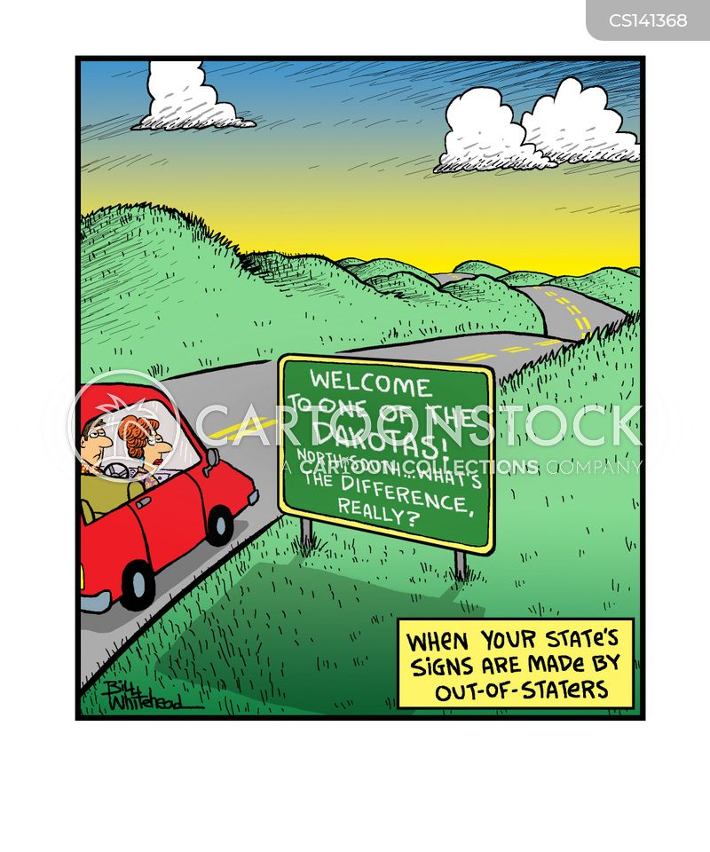 roadsign cartoon