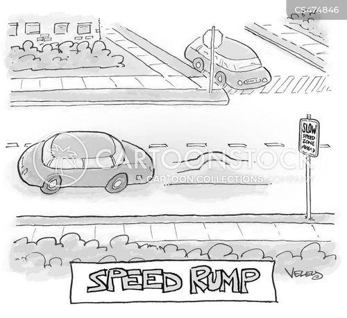 traffic calming device cartoon