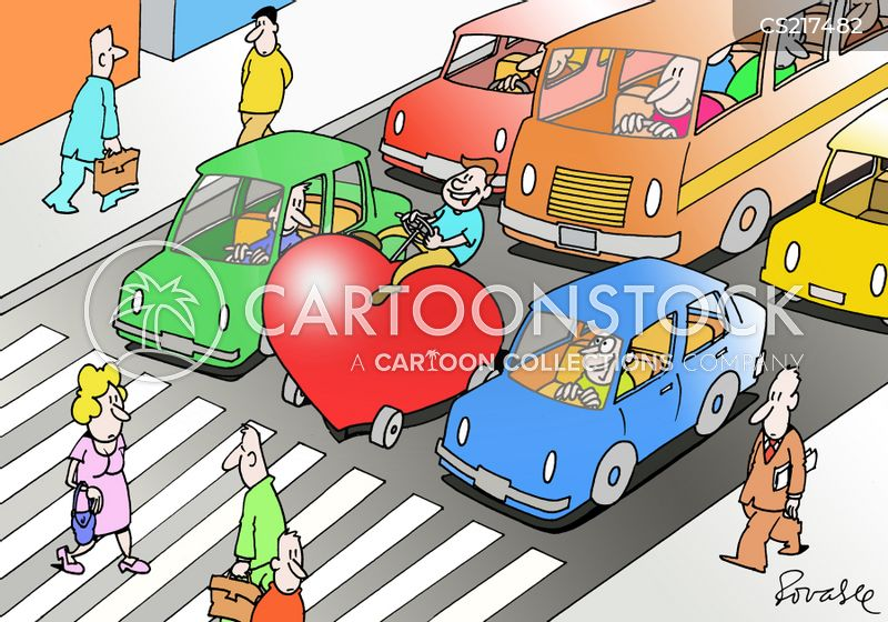 safe drivers cartoon