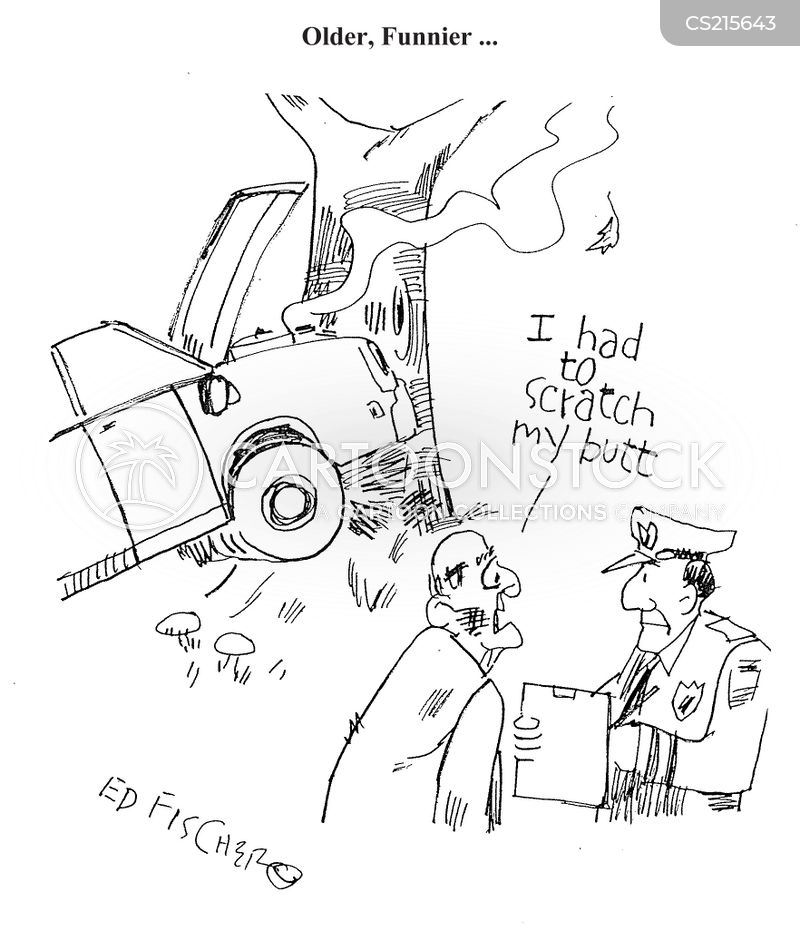 driving whilst distracted cartoon