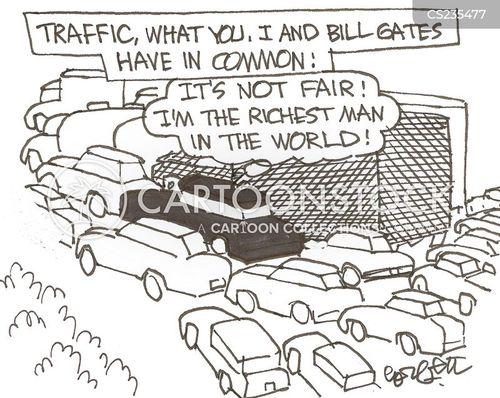 busy roads cartoon
